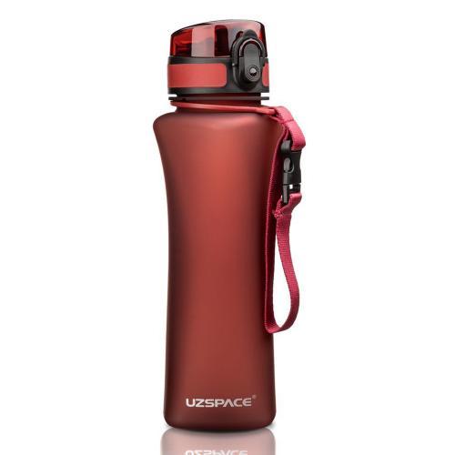 Бутылка Uzspace One Touch 500 мл красная