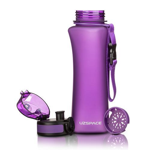 Бутылка Uzspace One Touch 500 мл фиолетовая