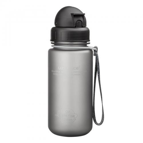 Бутылка Uzspace с трубочкой 400 мл серая