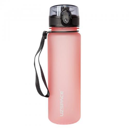 Бутылка Uzspace Colorful Frosted 500 мл светло-розовая
