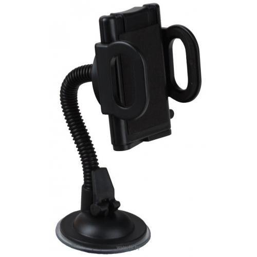 Автодержатель для телефона на присоске черный