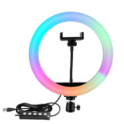 Кольцевая лампа Ring Light RGB 26 см с пультом и штативом