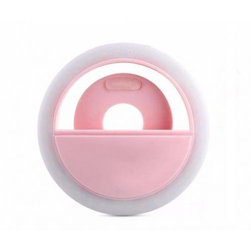 Светящееся кольцо для селфи RK-12 розовое