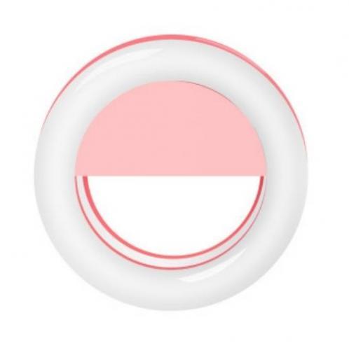 Светящееся кольцо для селфи RK-14 розовое