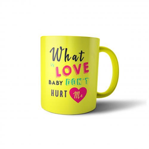 """Кружка """"What is Love"""" 300 мл желтая"""