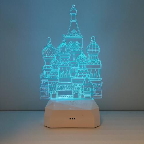 """Светильник 3D """"Собор"""" цветной"""
