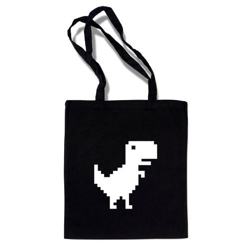 """Сумка-шоппер """"Динозавр"""" черная"""