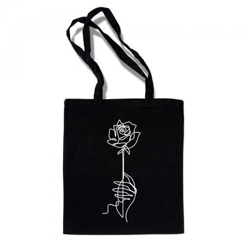 """Сумка-шоппер """"Роза"""" черная"""