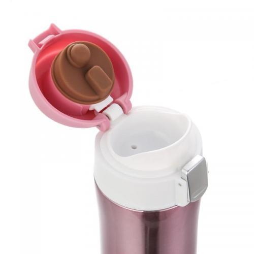 Термокружка IdeaCup 450 мл розовая